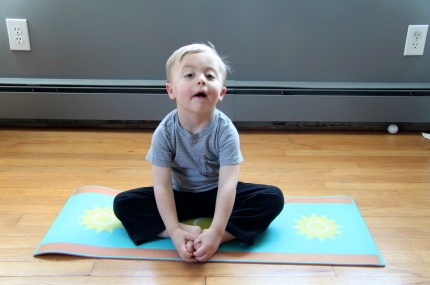 Yoga exercises for special needs children.