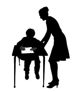 shadow teacher working with special needs child